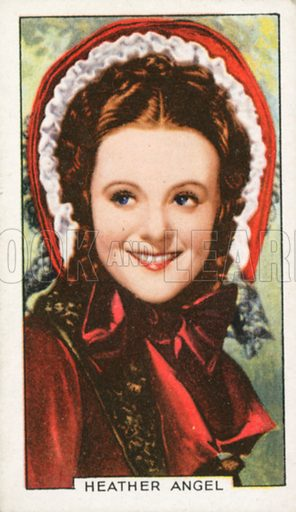 Heather Angle. Portraits of famous stars. Gallaher cigarette card early 20th century.