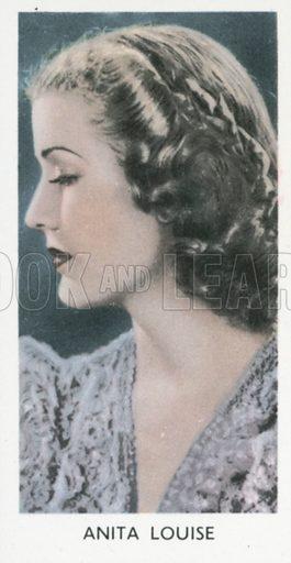 Anita Louise. Screen stars. Abdulla cigarette card, early 20th century.