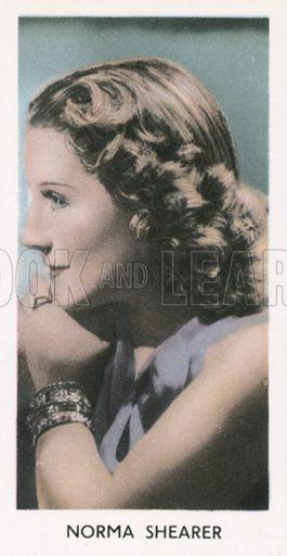 Norma Shearer. Screen stars. Abdulla cigarette card, early 20th century.