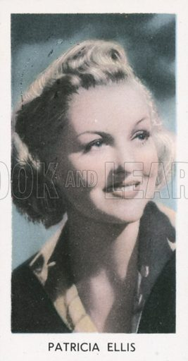 Patricia Ellis. Screen stars. Abdulla cigarette card, early 20th century.