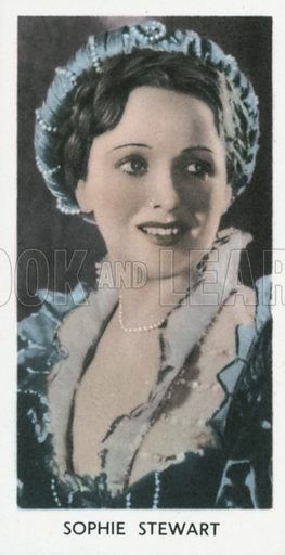 Sophie Stewart. Screen stars.  Abdulla cigarette card, early 20th century.