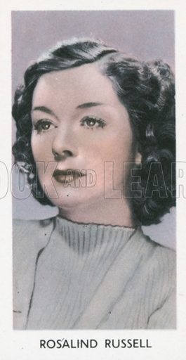 Rosalind Russell. Screen stars. Abdulla cigarette card, early 20th century.