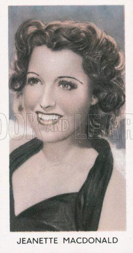 Jeanette Macdonald. Screen stars. Abdulla cigarette card, early 20th century.