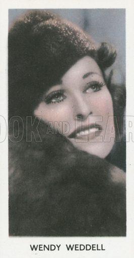 Wendy Weddell. Screen stars. Abdulla cigarette card, early 20th century.