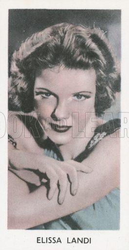 Elissa Landi. Screen stars. Abdulla cigarette card, early 20th century.