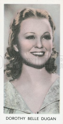 Dorothy Belle Dugan. Screen stars. Abdulla cigarette card, early 20th century.