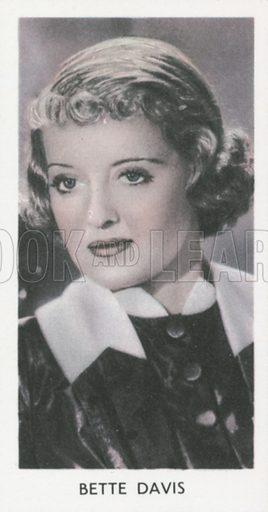 Bette Davis. Screen stars. Abdulla cigarette card, early 20th century.