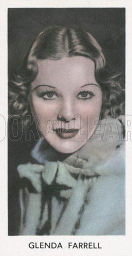 Glenda Farrell. Screen stars. Abdulla cigarette card, early 20th century.