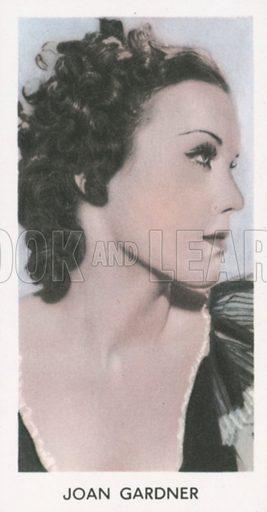 Joan Gardner. Screen stars. Abdulla cigarette card, early 20th century.