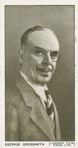 George Grossmith. British Film stars. Churchman cigarette card, early 20th century.