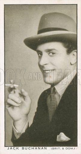 Jack Buchanan. British Film stars. Churchman cigarette card, early 20th century.