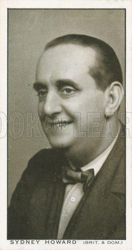 Sydney Howard. British Film stars. Churchman cigarette card, early 20th century.
