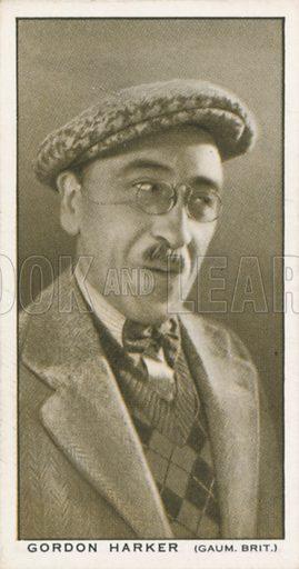 Gordon Harker. British Film stars. Churchman cigarette card, early 20th century.