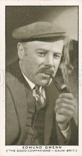 Edmund Gwenn. British Film stars. Churchman cigarette card, early 20th century.