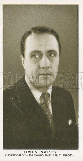 Owen Nares. British Film stars. Churchman cigarette card, early 20th century.