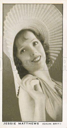 Jessie Matthews. British Film stars. Churchman cigarette card, early 20th century.