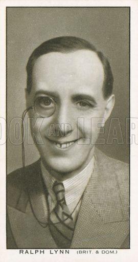 Ralph Lynn. British Film stars. Churchman cigarette card, early 20th century.
