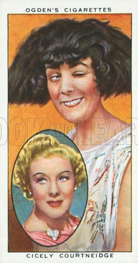 Cicely Courtneidge. Actors natural and character studies. Ogden's cigarette card, early 20th century.