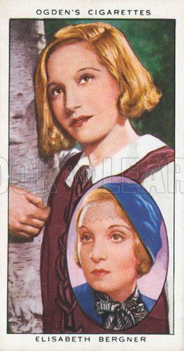 Elisabeth Bergner. Actors natural and character studies. Ogden's cigarette card, early 20th century.
