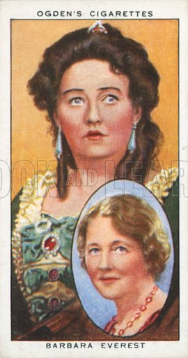 Barbara Everest. Actors natural and character studies. Ogden's cigarette card, early 20th century.