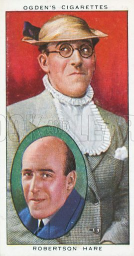 Robertson Hare. Actors natural and character studies. Ogden's cigarette card, early 20th century.