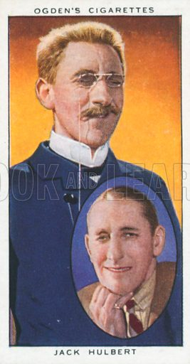 Jack Hulbert. Actors natural and character studies. Ogden's cigarette card, early 20th century.