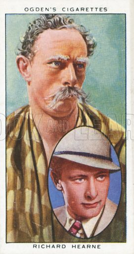 Richard Hearne. Actors natural and character studies. Ogden's cigarette card, early 20th century.