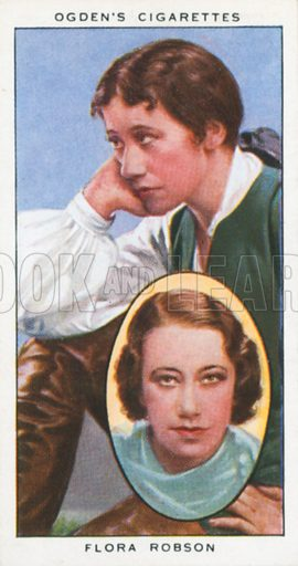 Flora Robson. Actors natural and character studies. Ogden's cigarette card, early 20th century.