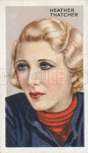 Heather Thatcher. Stars of screen and stage. Park Drive cigarette card, early 20th century.