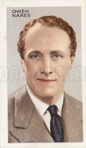 Owen Nares. Stars of screen and stage. Park Drive cigarette card, early 20th century.