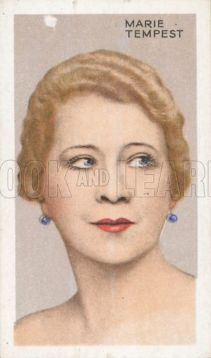 Marie Tempest. Stars of screen and stage. Park Drive cigarette card, early 20th century.