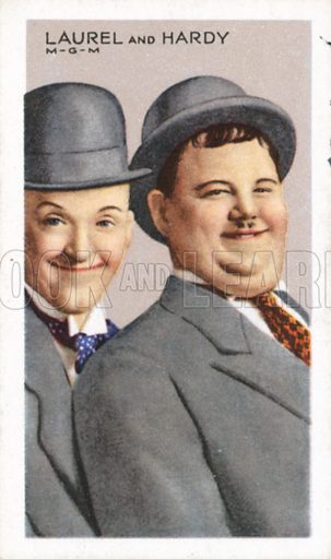 Laurel and Hardy, picture, image, illustration