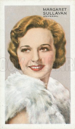 Margaret Sullavan. Stars of screen and stage. Park Drive cigarette card, early 20th century.