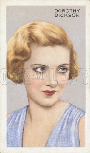 Dorothy Dickson. Stars of screen and stage. Park Drive cigarette card, early 20th century.