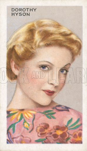 Dorothy Hyson. Stars of screen and stage. Park Drive cigarette card, early 20th century.