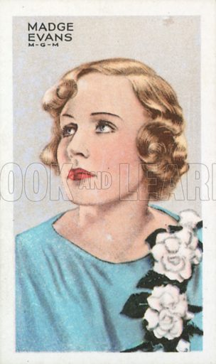 Madge Evans. Stars of screen and stage. Park Drive cigarette card, early 20th century.