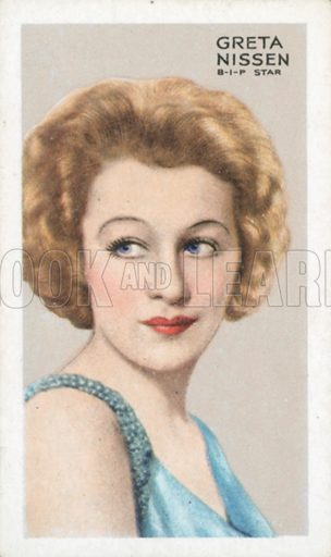 Greta Nissen. Stars of screen and stage. Park Drive cigarette card, early 20th century.