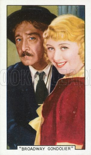"""""""Broadway Gondolier"""". Film episodes. Gallaher cigarette card, early 20th century."""