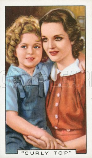 """""""Curly Top"""". Film episodes. Gallaher cigarette card, early 20th century."""