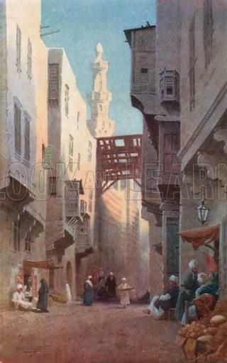Sharia Bab-el-Wazir, Cairo. Illustration for Egypt (A&C Black, 1904).