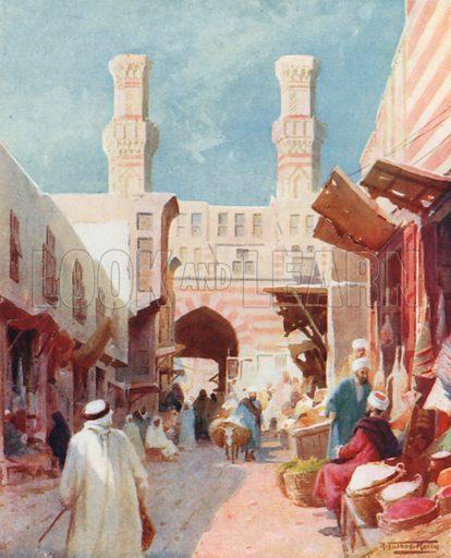 The Bab-Zaweyla. Illustration for Egypt (A&C Black, 1904).