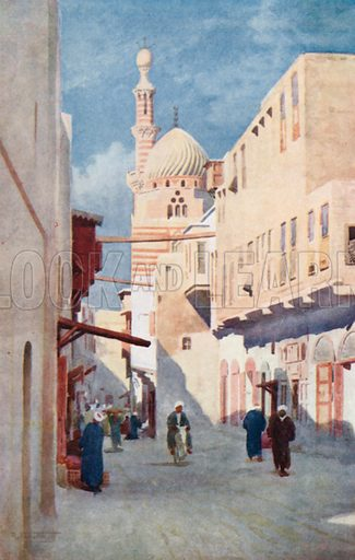 The Sais Mosque, Cairo. Illustration for Egypt (A&C Black, 1904).