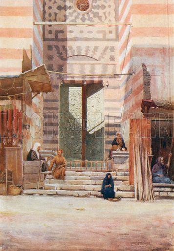 The Bronze Doors of El-Maristan El-Kelaun. Illustration for Egypt (A&C Black, 1904).