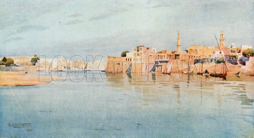 Mit Gamr on the Lower Nile. Illustration for Egypt (A&C Black, 1904).