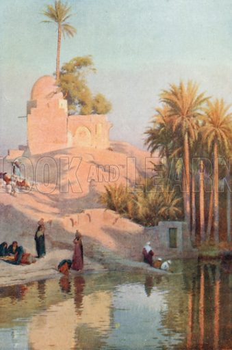 In the Oasis of Fayum. Illustration for Egypt (A&C Black, 1904).