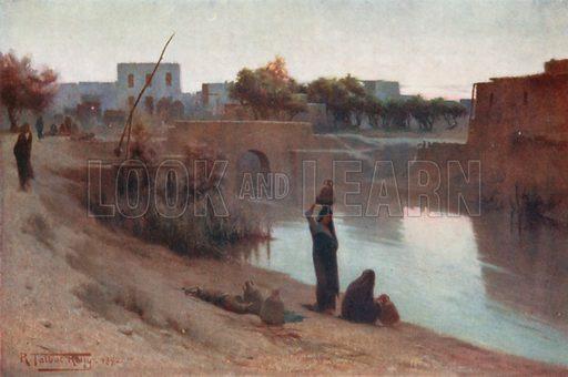 Evening at Fakus. Illustration for Egypt (A&C Black, 1904).