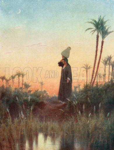 Rachel. Illustration for Egypt (A&C Black, 1904).