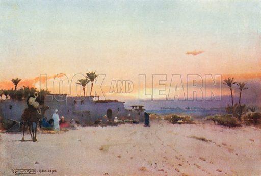 A Fellah Village. Illustration for Egypt (A&C Black, 1904).