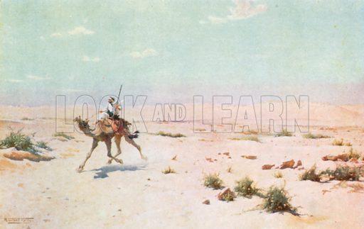 A Desert Courier. Illustration for Egypt (A&C Black, 1904).