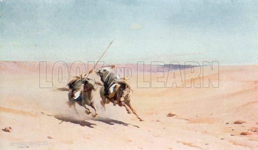 A Duel. Illustration for Egypt (A&C Black, 1904).